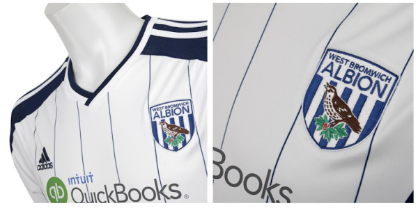 wba home shirt closeup 600x299 West Bromwich Albion Unveil Controversial Home Shirt For 2014/15: Official [PHOTOS]