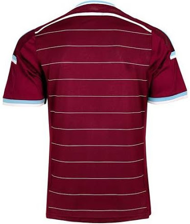 west ham united home shirt back West Ham United Home Shirt For 2014/15 Season: Official [PHOTOS]