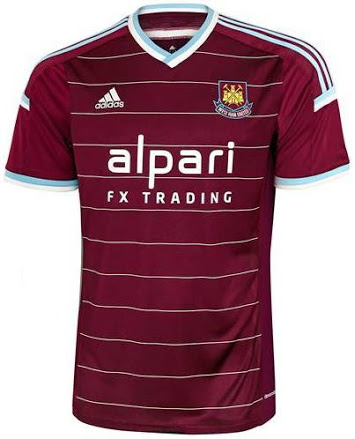 west ham united home shirt front West Ham United Home Shirt For 2014/15 Season: Official [PHOTOS]