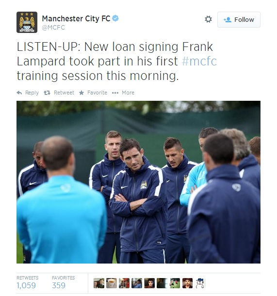 Lampard Frank Lampard Takes His First Day Of Training At Manchester City [PHOTO]