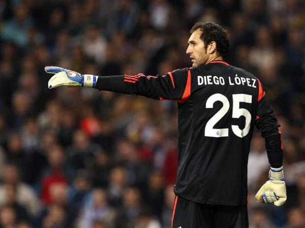 Goalkeeper Diego Lopez Being Shown The Exit Door From Real Madrid
