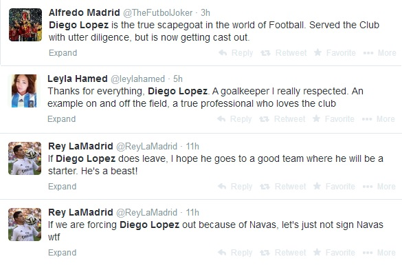 LopezTweets Goalkeeper Diego Lopez Being Shown The Exit Door From Real Madrid