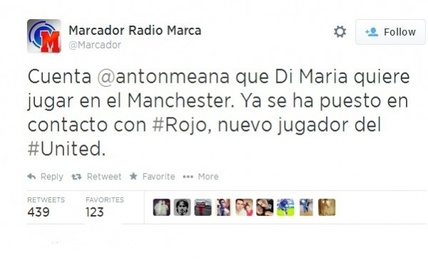 RadioMarca1 600x368 Angel Di Maria Contacted Marcos Rojo Regarding Move To Manchester United, Says Report