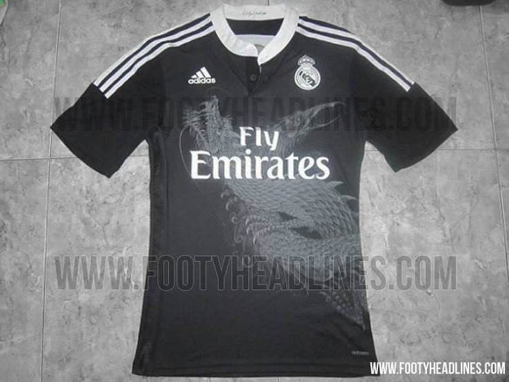 new arrival 238fe fe8a6 Real Madrid's 2014/15 Black Third Kit Reviewed: [PHOTOS ...