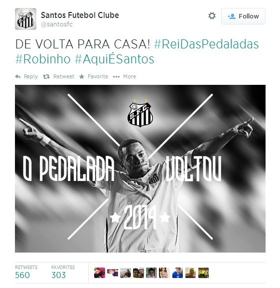 Santos AC Milan Send Robinho To Santos On Loan
