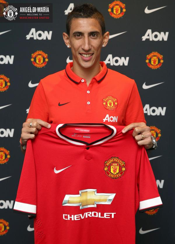 Manchester United Signs Angel Di Maria For British Transfer Record of £59.7m