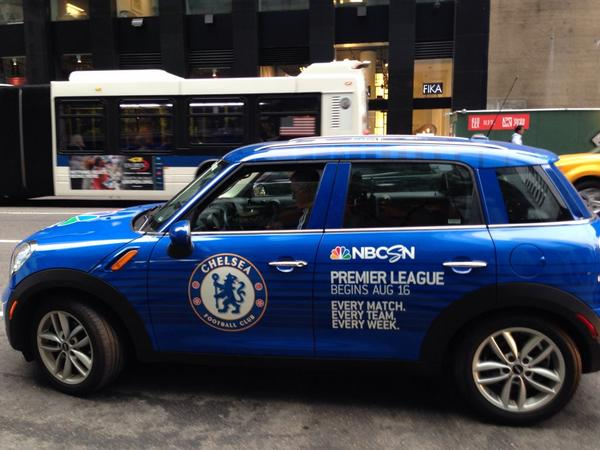 chelsea uber car Premier League Mini Coopers Spotted On the Streets of New York City [PHOTOS]
