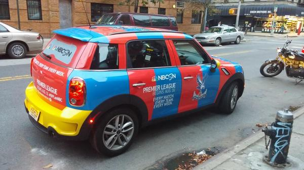 crystal palace uber car Premier League Mini Coopers Spotted On the Streets of New York City [PHOTOS]