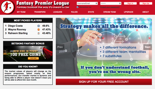 fantasy premier league football 600x346 New Twist On Fantasy Football Offers Soccer Fans Plenty of Features