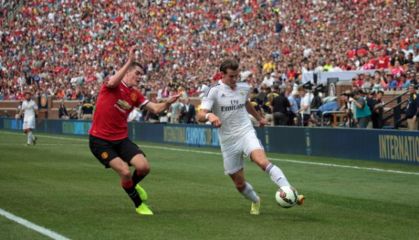 gareth bale 600x344 Manchester United 3 1 Real Madrid: International Champions Cup [PHOTOS]