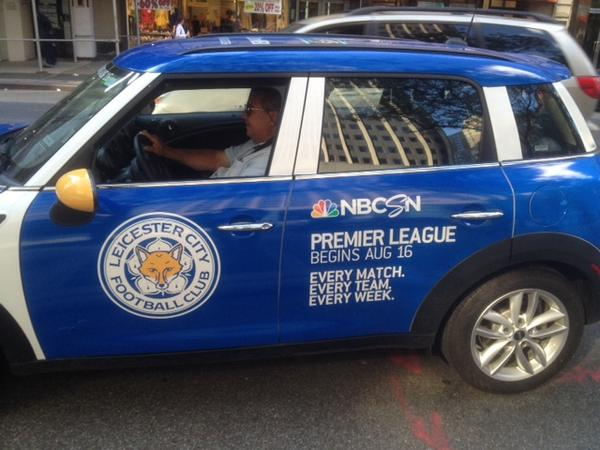 leicester uber car Premier League Mini Coopers Spotted On the Streets of New York City [PHOTOS]