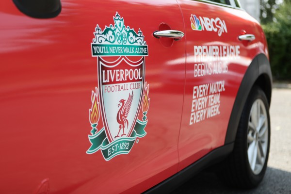 liverpool mini cooper 600x400 NBC Sports and Uber Launch Fleet of Premier League Mini Coopers in New York City [PHOTOS]