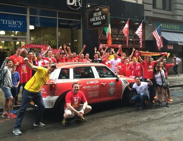 liverpool uber car Premier League Mini Coopers Spotted On the Streets of New York City [PHOTOS]