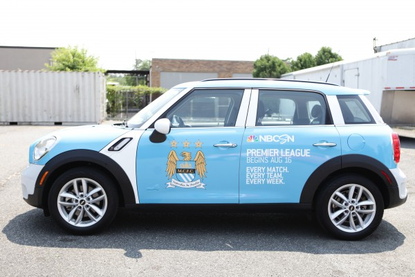 man city mini cooper 600x400 NBC Sports and Uber Launch Fleet of Premier League Mini Coopers in New York City [PHOTOS]