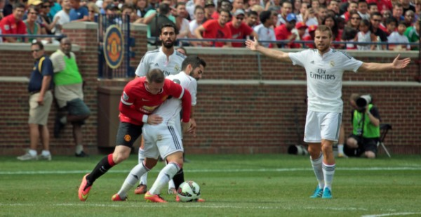 man united real madrid michigan 600x309 Manchester United 3 1 Real Madrid: International Champions Cup [PHOTOS]