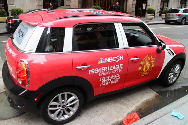man united uber mini Premier League Mini Coopers Spotted On the Streets of New York City [PHOTOS]