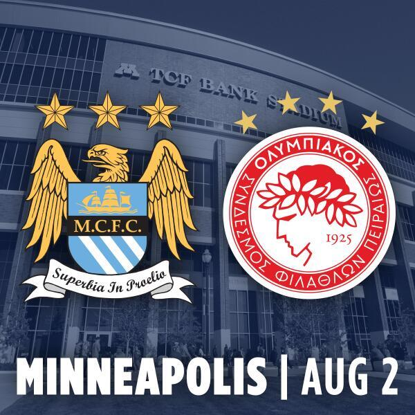 manchester city olympiacos Manchester City vs Olympiacos, International Champions Cup Open Thread