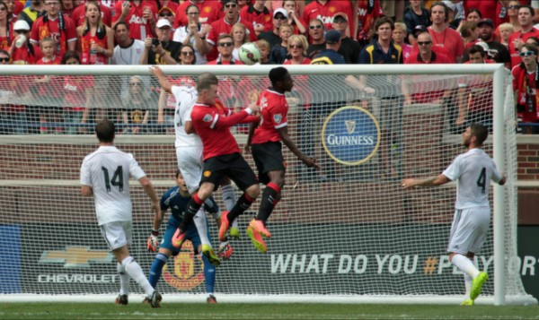 mufc real madrid 600x357 Manchester United 3 1 Real Madrid: International Champions Cup [PHOTOS]