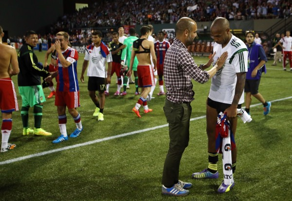 pep guardiola thierry henry 600x414 5 Thoughts On The 2014 MLS All Star Game