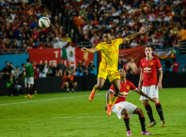raheem sterling 600x442 Manchester United vs Liverpool, International Champions Cup Final in Miami [PHOTOS]