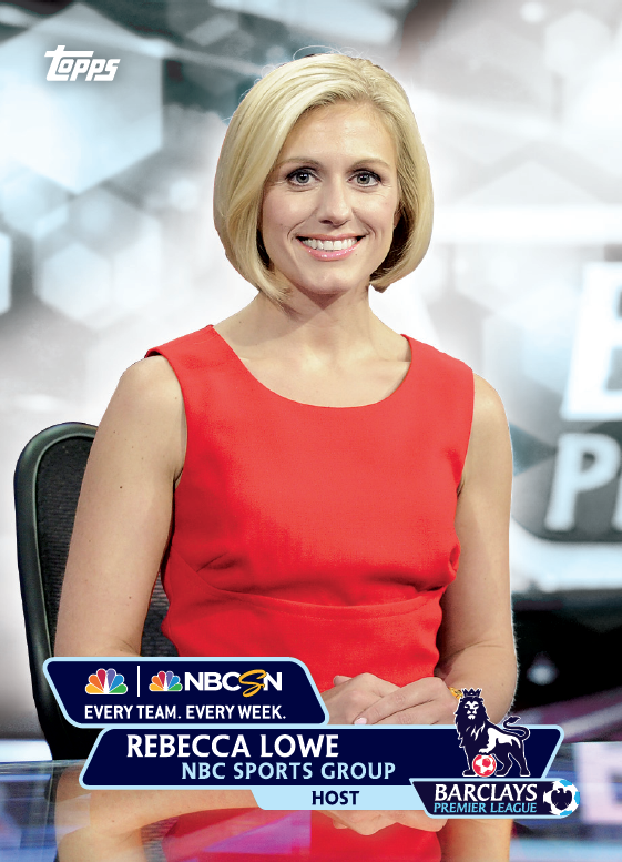 rebecca lowe trading card1 Topps Releases Limited Edition Cards Of NBCs Premier League Announcing Team [PHOTOS]
