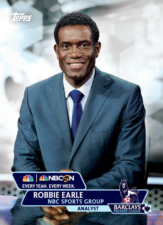 robbie earle trading card1 Topps Releases Limited Edition Cards Of NBCs Premier League Announcing Team [PHOTOS]