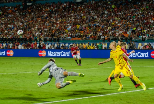simon mignolet 600x407 Manchester United vs Liverpool, International Champions Cup Final in Miami [PHOTOS]