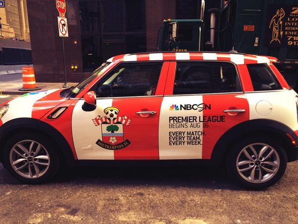 southampton epl car Premier League Mini Coopers Spotted On the Streets of New York City [PHOTOS]