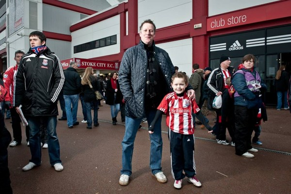 stoke city fan and son 600x400 Memories of Supporting Stoke City With My Father
