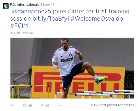 svaldo Southampton Signs Saphir Taider From Inter Milan And Sends Dani Osvaldo The Other Way