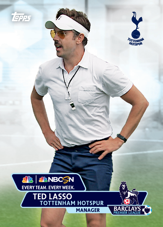 ted lasso trading card Topps Releases Limited Edition Cards Of NBCs Premier League Announcing Team [PHOTOS]