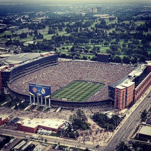the big house 600x600 Manchester United 3 1 Real Madrid: European Clubs Make US Soccer History
