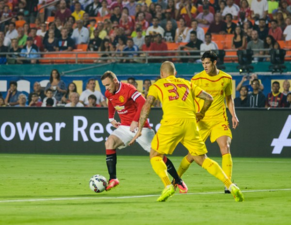wayne rooney1 600x465 Manchester United vs Liverpool, International Champions Cup Final in Miami [PHOTOS]