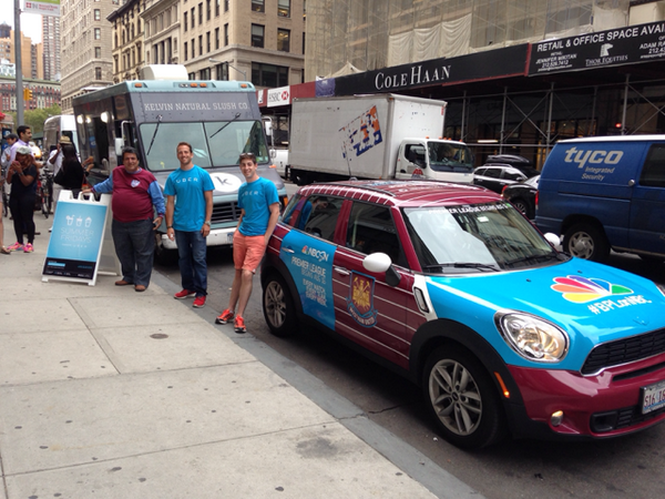 west ham uber car Premier League Mini Coopers Spotted On the Streets of New York City [PHOTOS]