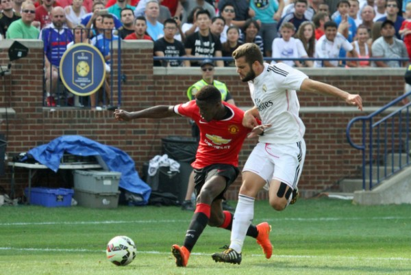 wilfried zaha 600x402 Manchester United 3 1 Real Madrid: International Champions Cup [PHOTOS]