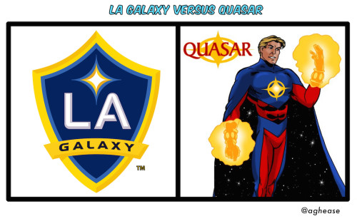 LA Galaxy versus Quasar Marvel Comics