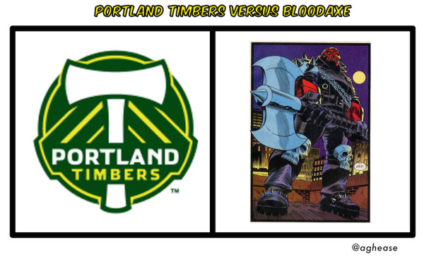 Portland Timbers versus Bloodaxe from Thor Trademark