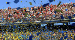 River Plate's (top) and Boca Juniors' supporters cheer for their teams
