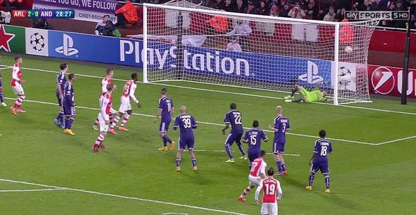 Arsenal vs Anderlecht Match Highlights; UEFA Champions League