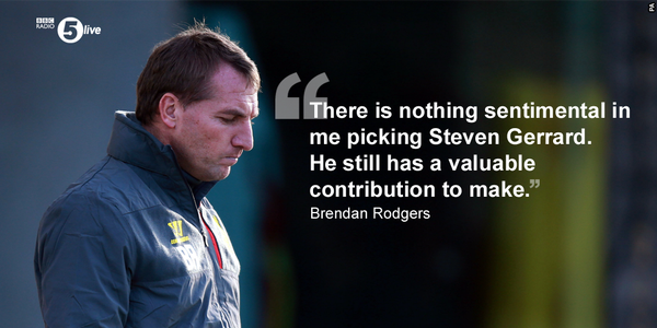 Criticism of Steven Gerrard is Unfair, Says Brendan Rodgers