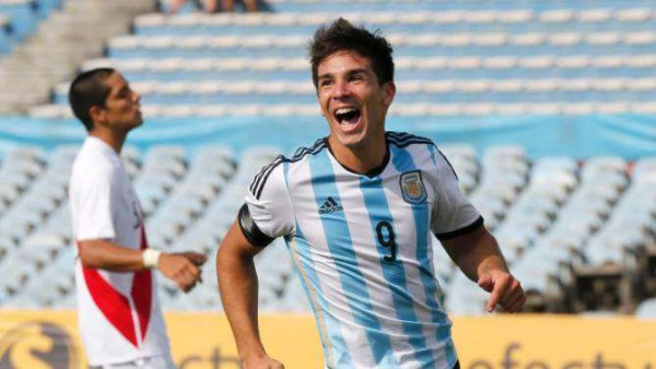Argentina's Giovanni Simeone following in his father's footsteps