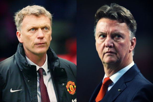 Louis Van Gaal vs David Moyes at Manchester United After 21 Games [INFOGRAPHIC]