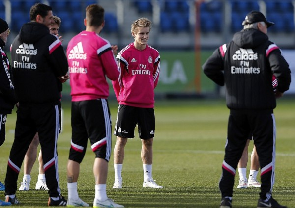 Martin Odegaard trains with first team ahead of Real Madrid Castilla debut