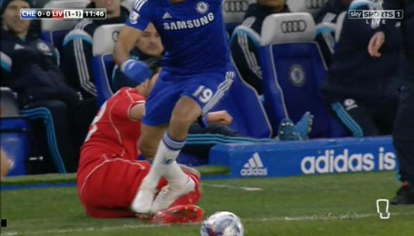 FA awaits referee report on Diego Costa stamping incidents
