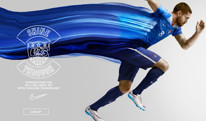 6351f96ce30 Clint Dempsey and Alex Morgan model the new USA away shirt for 2015 ...