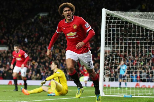 Louis van Gaal bringing the best out of Marouane Fellaini
