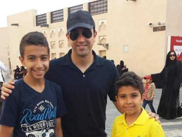 Barcelona midfielder Xavi photograpped in Qatar ahead of reported move