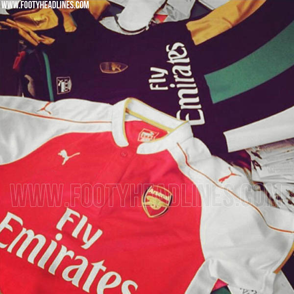 b7bfbe1ecb9 Arsenal home and third shirts for 2015-16 season  Leaked  PHOTOS ...