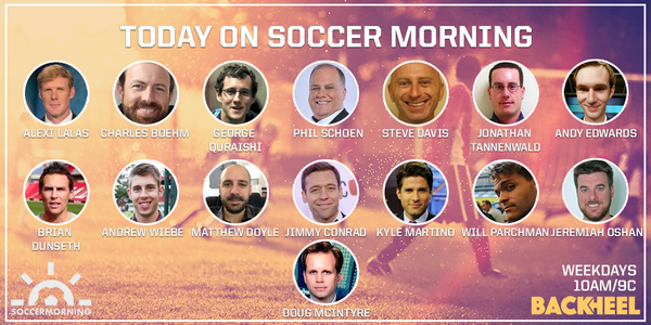 Listen to Soccer Morning's MLS Preview with Lalas, Martino, Schoen & more from 10-11:15am ET