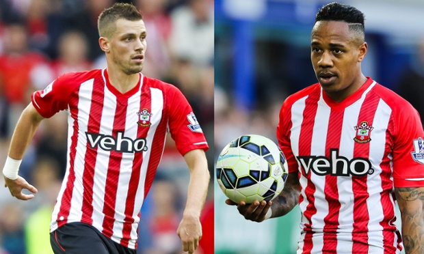 Morgan Schneiderlin and Nathaniel Clyne
